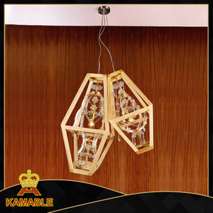 New design crystal glass wood pendant lights(KAMD8124-2-750)