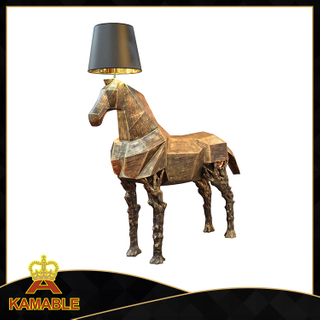 Glass Fiber Reinforced Plastics Horse Decorative Floor Lamp (KAMF5866)