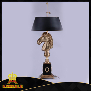 Hotel Room Horse Brass Table Lamp (CT20318-2VBN)