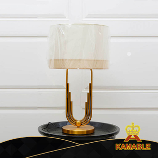 White Fabric Shade Decorative Modern Table Lights for Hotel (KA524-T)