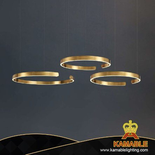 Simple Luxury Lighting Notch Ring Stainless Steel Pendant Lamp (CL301)