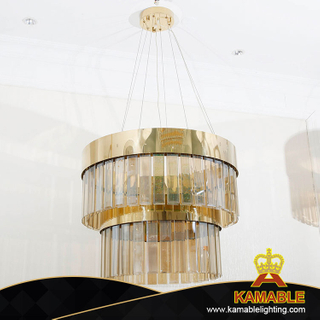 Double Ring Gold Living Room Hanging Pendant Lighting (KA516-P-C)