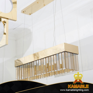 Rectangle Box Gold Guest Hall Ceiling Pendant Lamp (KA516-P-S)