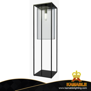 Modern Metal and Glass Standing Floor Lamp (KPL1807)