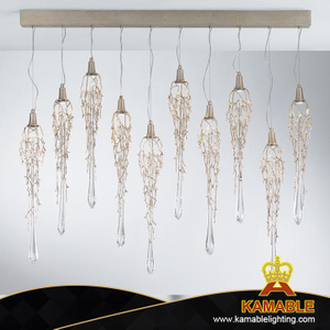 Indoor Modern Decorative Brass Glass Chandelier Ceiling Lamp (KASE-0011)