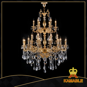 Blazing indoor decorative cast aluminum chandelier(99549-24L)