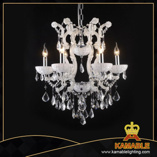 White color Crystal home chandelier(10066-6L)