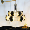 Modern Decorative Lighting Iron Gold Plating Pendant Lamp for restaurant (KJ039)