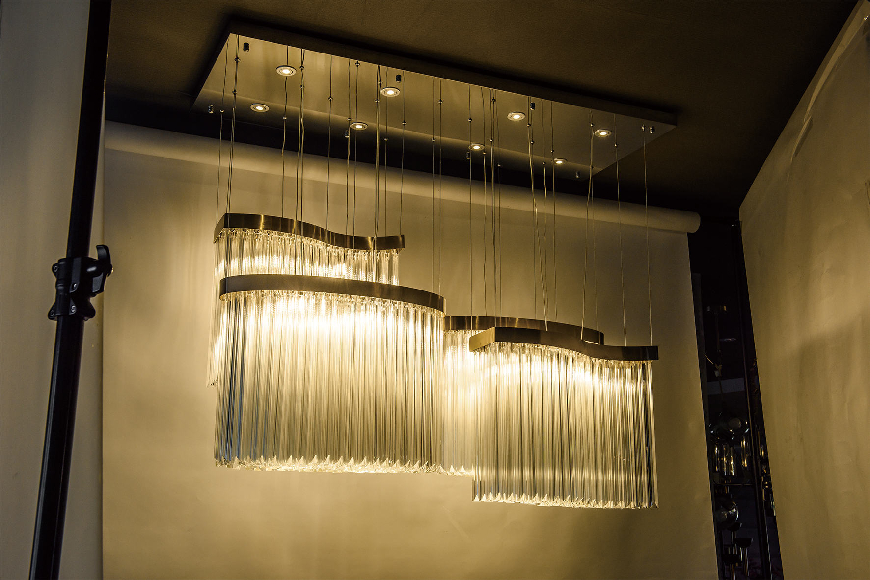 Hanging Decoration clear glass rod pendant lamp(KAP18-173)