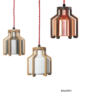 Modern aluminum wood pendant lighting (9141P/1)