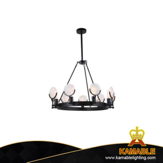 Black iron interior decorative industrial pendant lights(KAUR910-9)
