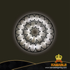 Modern Iron Acrylic Flower LED Bedside Wall Lighting (KA814W/M)