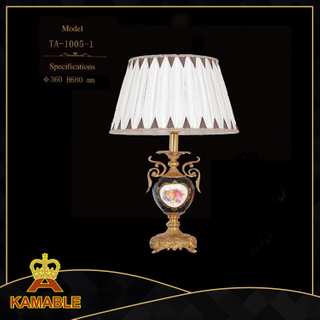 Pottery ceramic table lamp for home house interior deco(TA-1005-1)