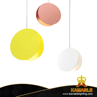 Nordic Post Modern Round Macaroon Colors Decorative Living Room Restaurant LED Pendant Lighting (LT-04)