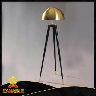 Modern Design Metal Gold Shade Floor Lamp (KAF6102)