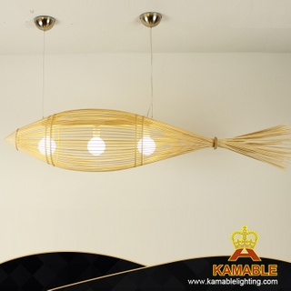 Fish shape pendant hotel decorative lighting(KA-YW)
