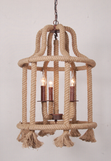 Decorative hemp rope house shape antique pendant lighting (GD1215-3)