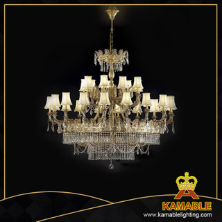 Hotel Luxury brass with crystal chandelier (MD0805-18+9)