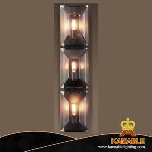 Modern crystal glass matt grey wall lamp (KAW152)