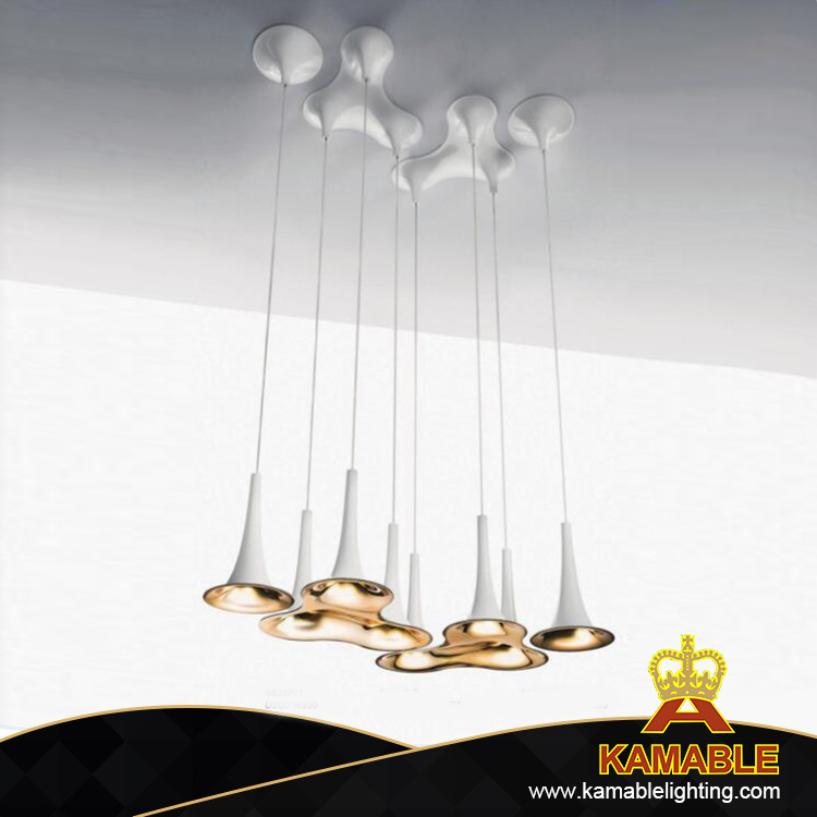 Golden colour metal hotel ceiling light (KA9923P/3)