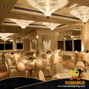 Modern Elegance Crystal Ceiling Lamp for Hotel (KAJ18010)