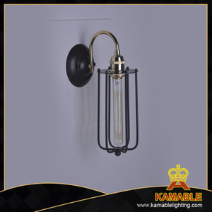 Cage Filament Aged Steel wall lamp(KM087W-1B)