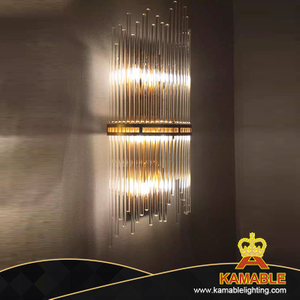 Wholesale Modern Bedside Stainless Steel Glass Wall Lamp (KABW001)