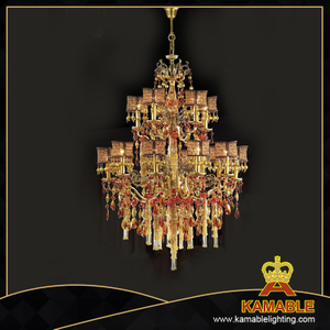 Luxury house brass with crystal chandelier (MD0728-10+5)