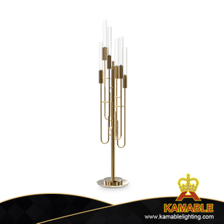 Home Decorative Metal Glass Floor Lamp (KPL1811)