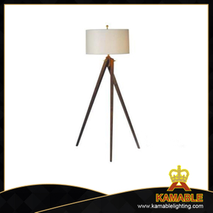 Artistic Wooden with Fabric Shade Floor Lamps (F712)