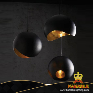 Modern Metal Black and Gold Pendant Lamp (KAB300)