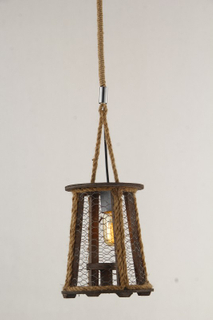 Decorative indoor lantern style wood modern pendant lamp(KW0229P )