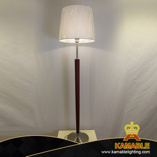 Modern Wooden With Fabric Shade Floor Light (KAML3618)