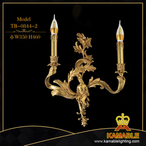 Hotel guest room luxury decoration flower brass wall lamp (TB-0844-2)