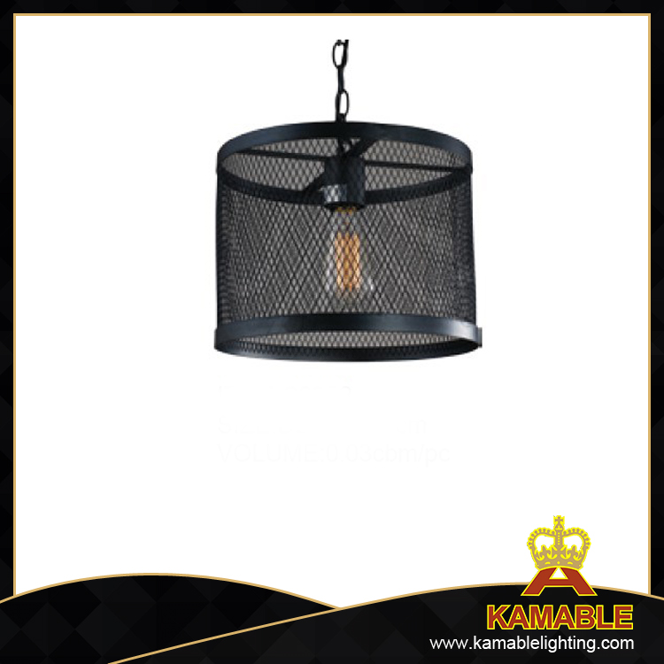 Mesh enclosure black decorative industrial pendant lamp (C2022)
