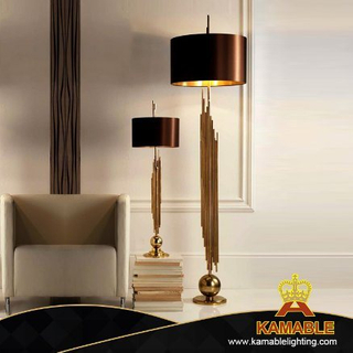 Modern Indoor Lighting Golden Iron Floor Light (KJ019)
