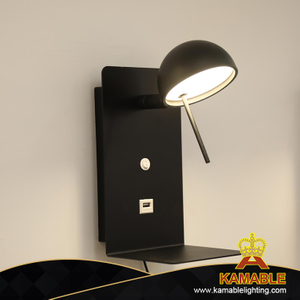 Modern Home Bedside Steel Reading LED Wall Light (KA8372-A)