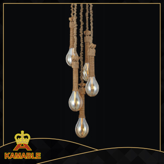 Retro style hemp rope decorative hotel pendant lamp (KW0029P-6)