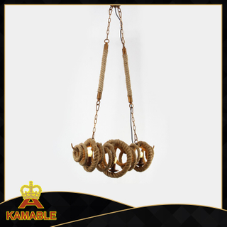 Antique and energy-saving hemp rope indoor pendant lamp (KW0193P-3)