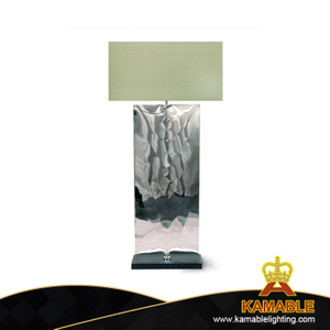 Hot style stainless steel table lamps with cloth shade (KAMA002)