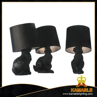 Fancy Decoration Rabbit Resin Table Lamp (1014T)
