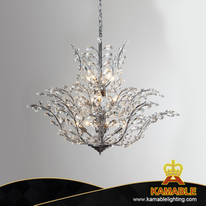 Hotel Chrome Decorative K9 Crystal Pendant Lighting (KA4426-L6)