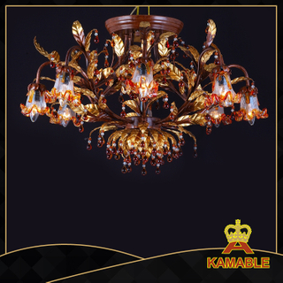 Fancy style indoor decorative painted chandelier(1080-L8+1)