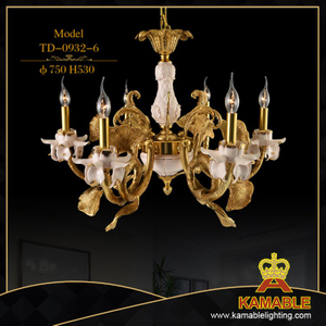 Home living room classical gold candle pendant lamp (TD-0932-6)