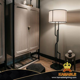 Hotel Custom-Made Design Fabric Shade Floor Lamp (KJ018)