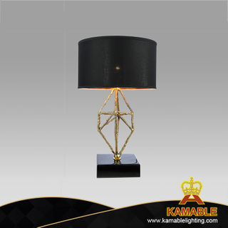 Fancy Steel Golden Bedside Table Lamp (GT8640-1)